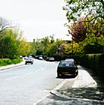 Fig 16 - Hampstead Way right from Corringham Road 1997 photo(16k)
